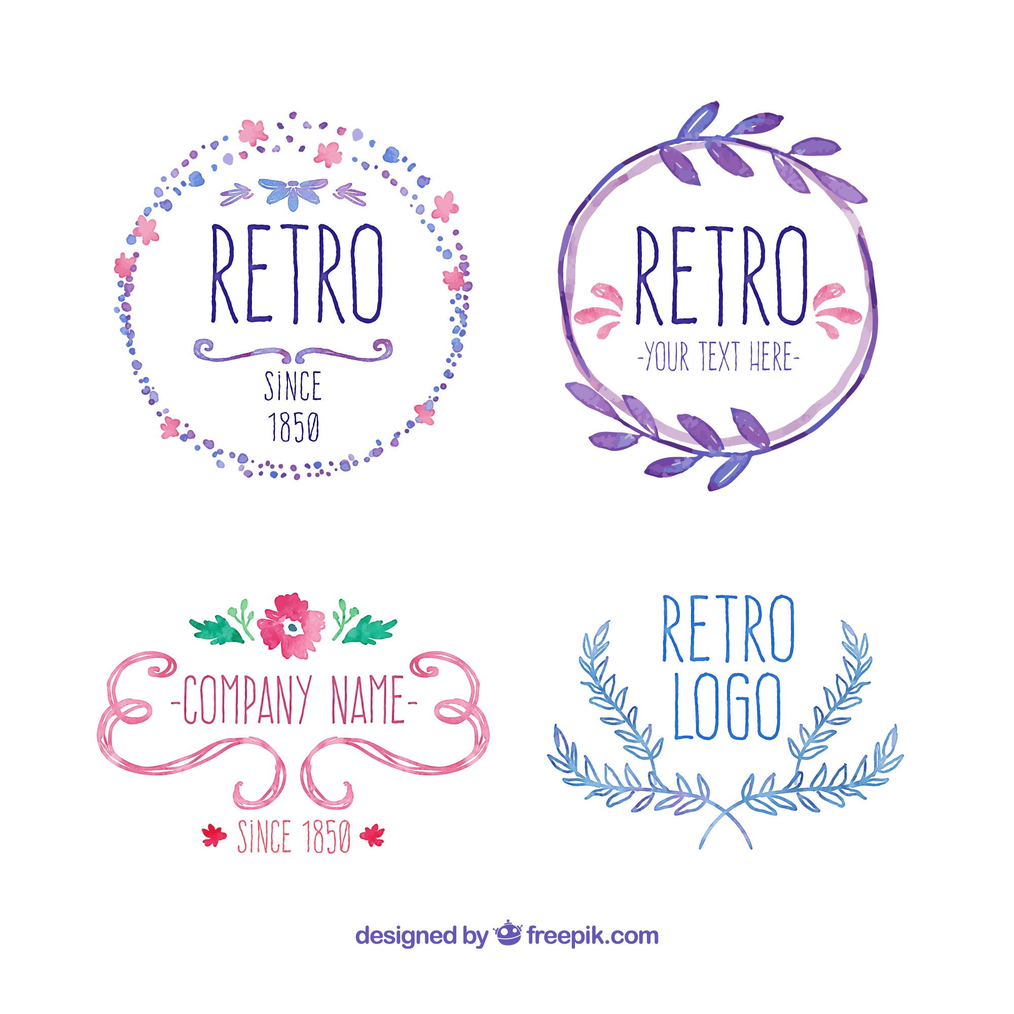 hand painted retro badges