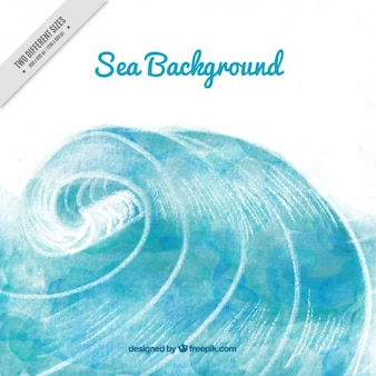 Hand painted sea background