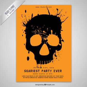 Hand painted skull poster