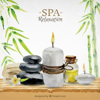 Hand painted spa background