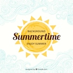 Hand painted summertime background