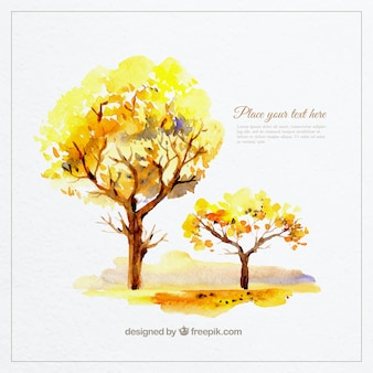 Hand painted trees template
