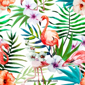 Hand painted tropical nature