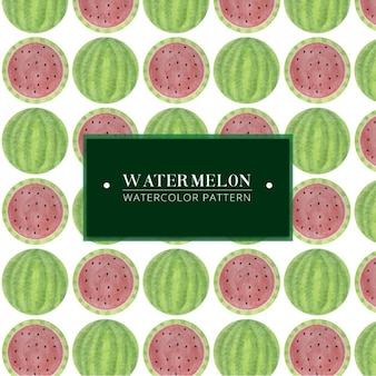 Hand painted watermelon pattern