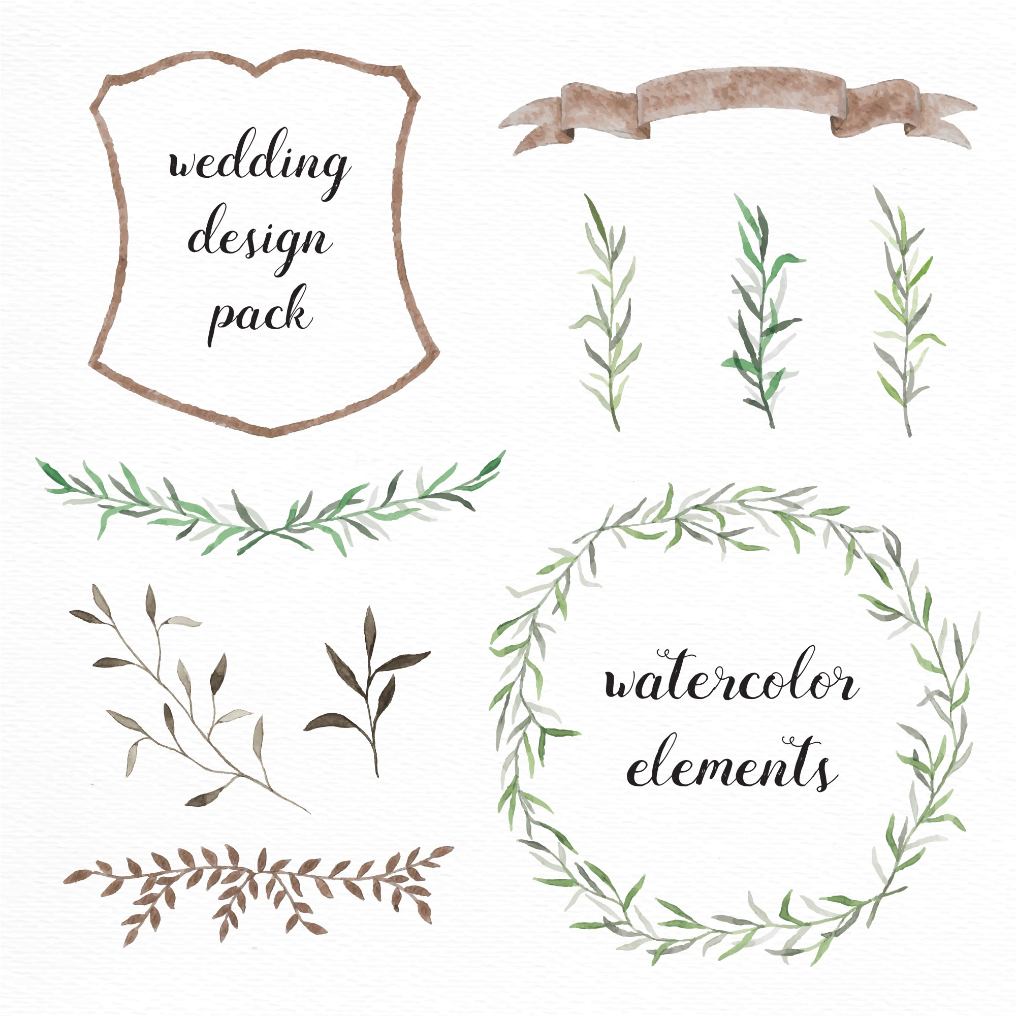 Hand painted wedding elements
