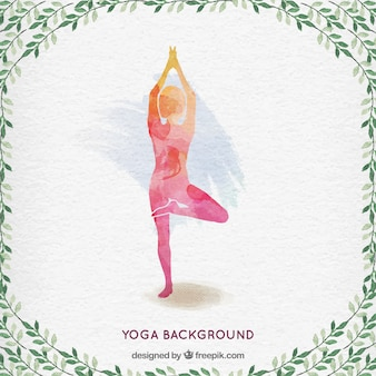 Hand painted yoga background