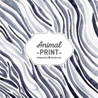 Hand painted zebra print background