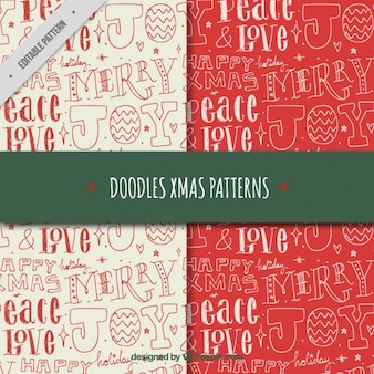 hand written letters pattern set with christmas messages