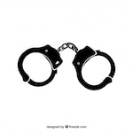 Handcuffs silhouette detailed icon vector