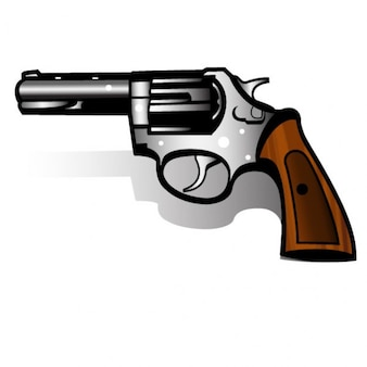 Handgun magnum revolver vector illustration