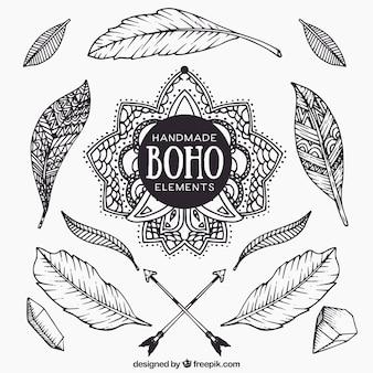 Handmade boho feathers