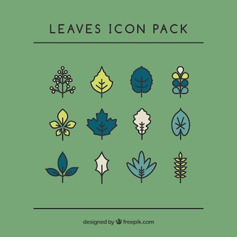 Handrawn Leaves Pack