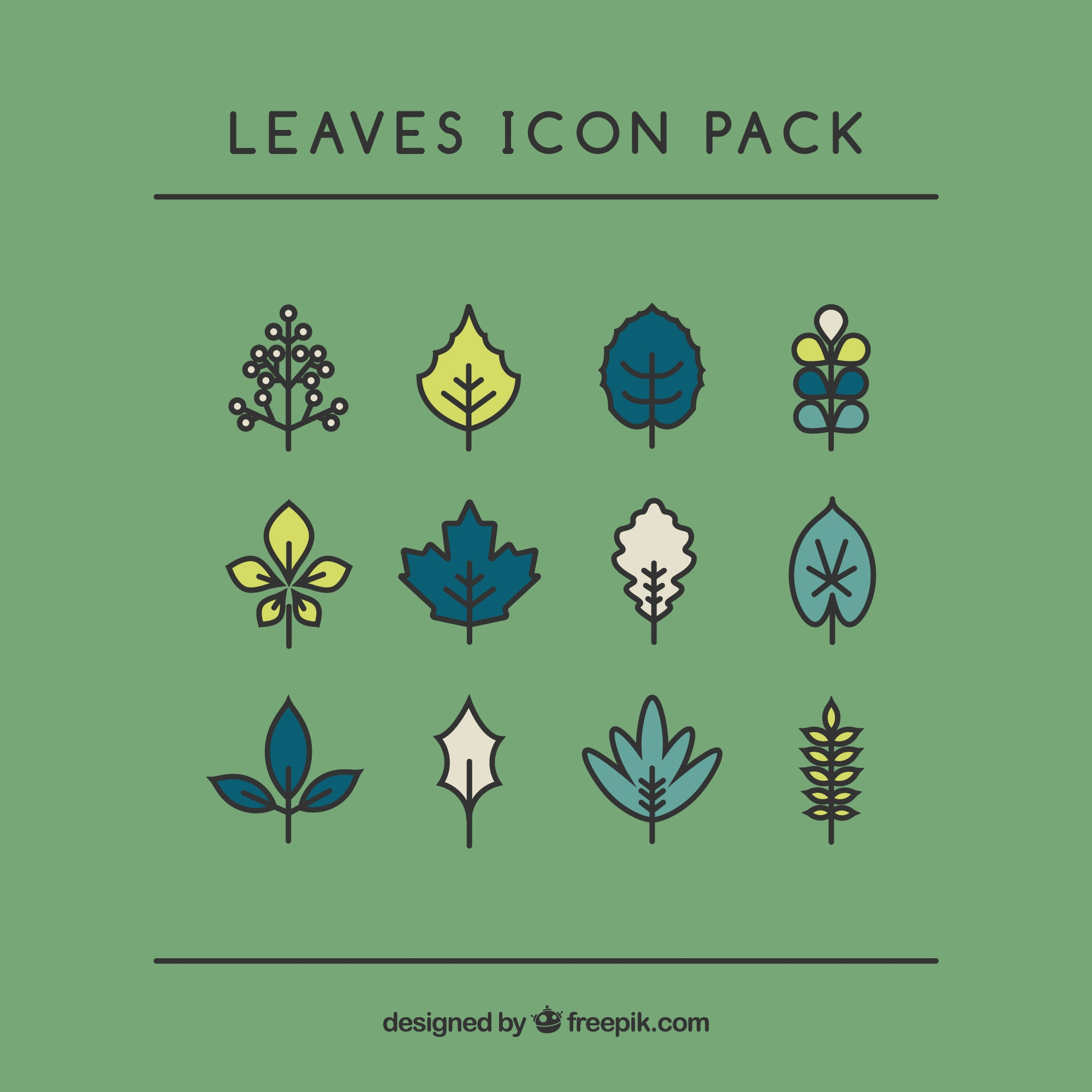 Handrawn Leaves Pack