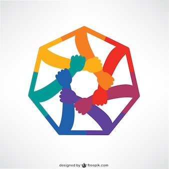 Hands connecting logo