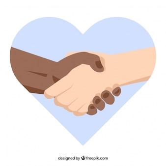 Hands shake