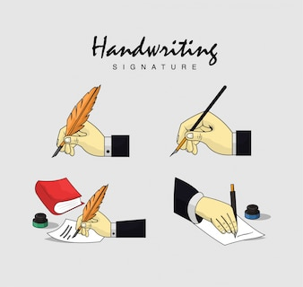 Handwriting designs collection