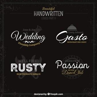 Handwritten logos collection