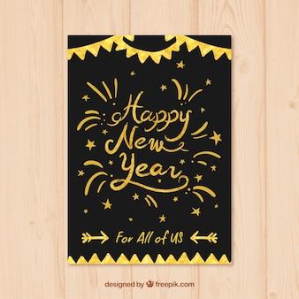 Handwritten new year card
