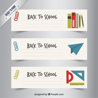 Handwritten school banners