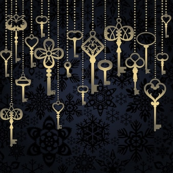 Hanging keys background