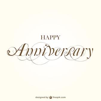 Happy anniversary calligraphy
