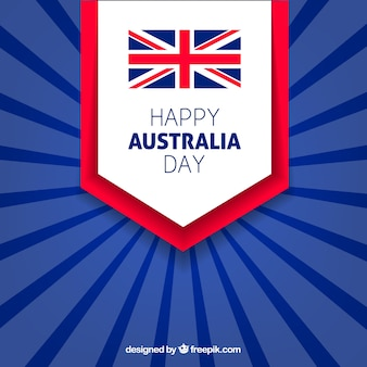 Happy australia day background in blue tones