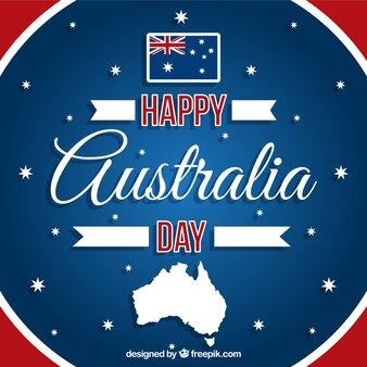Happy Australia day background in red and blue color
