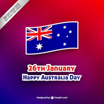Happy Australia Day background with a flag label