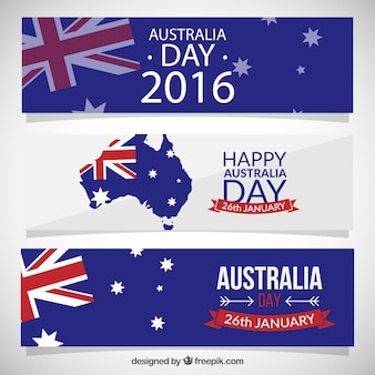 Happy australia day banners pack