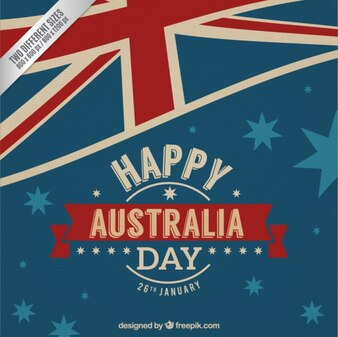 Happy Australia day flag background