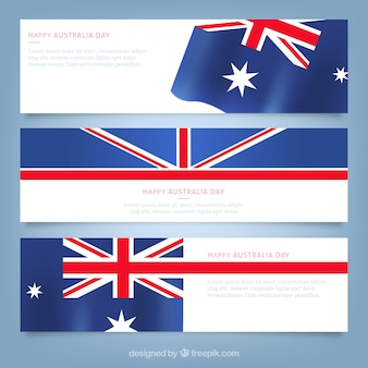 Happy australian day banners