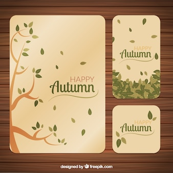 Happy autumn stationery