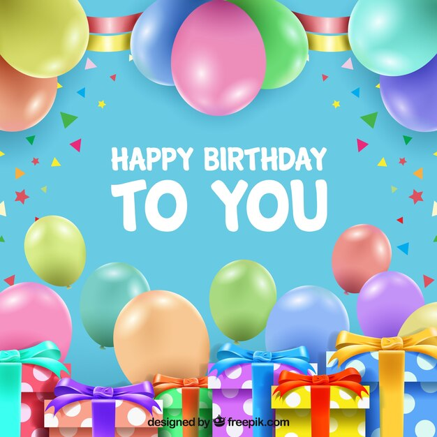 Happy birthday background Vector | Free Download