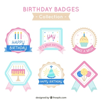 Happy birthday badges collection