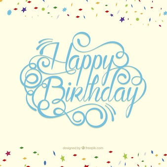 Happy birthday card in lettering style