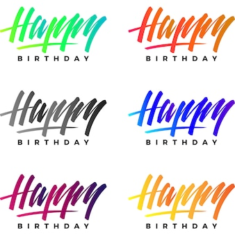 Happy birthday logo collection