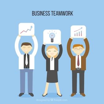 Happy business teamwork