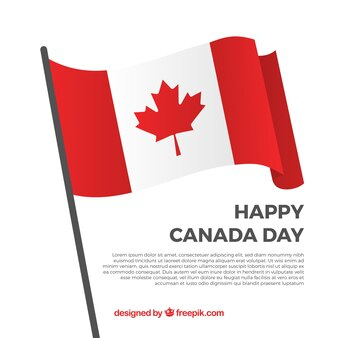 Happy canada day background with decorative flag