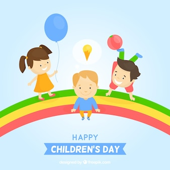 Happy children's day with a cute background