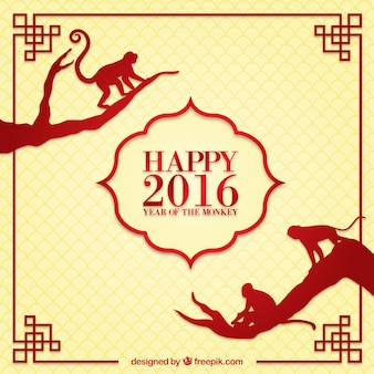 Happy chines new year 2016 background
