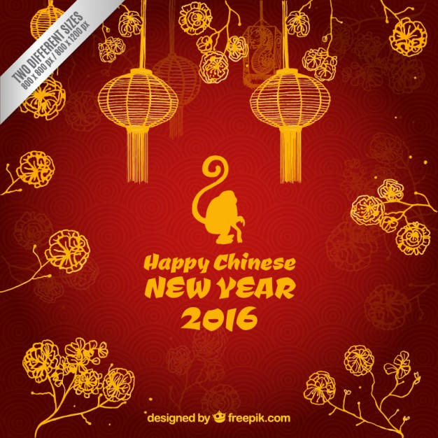 Happy chinese new year 2016 background