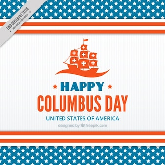 Happy columbus day with a caravel