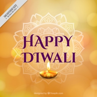 Happy diwali bokeh background