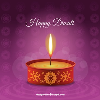 Happy Diwali candle background