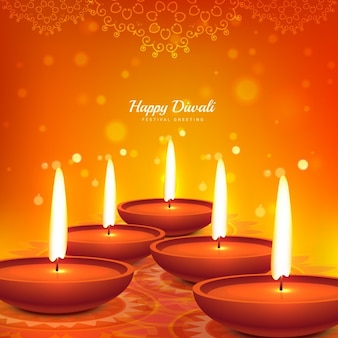 happy diwali diya design beautiful background