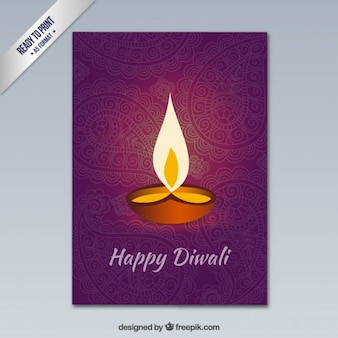 Happy Diwali greeting with ornaments