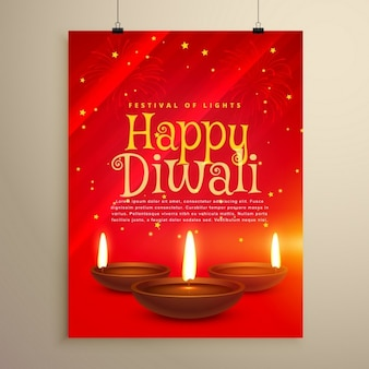 Happy diwali red brochure