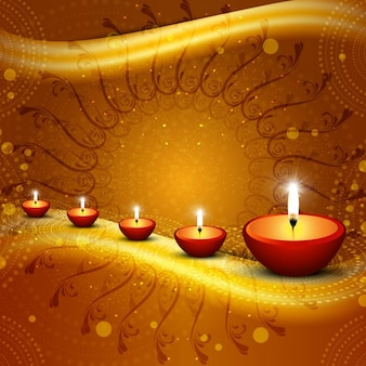 Happy Diwali Shiny Background