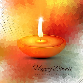 Happy diwali with candle