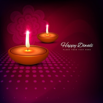 Happy Diwali with magenta background